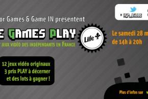 Indie Games Play LILLE – Une date et une vidéo !