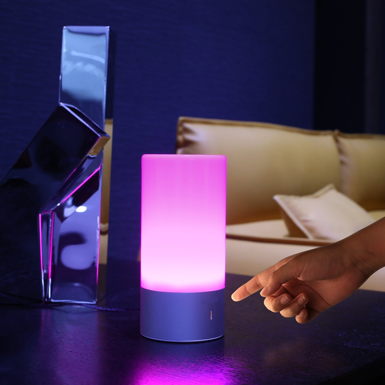 lampe de chevet led de chez aukey notre test en couleurs. Black Bedroom Furniture Sets. Home Design Ideas