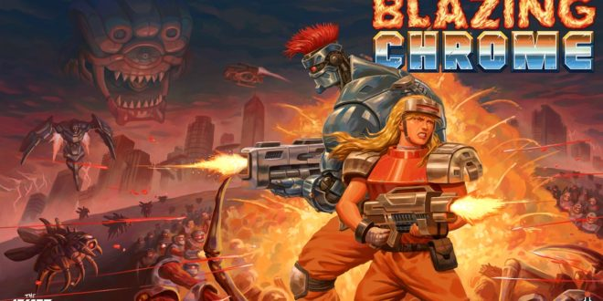 Blazing-Chrome-The-Arcade-Crew-DotEmu-Run-n-Gun-Logo